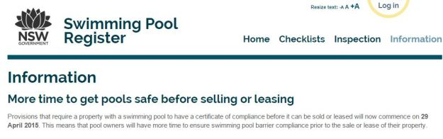 NSW Government Swimming Pool Register